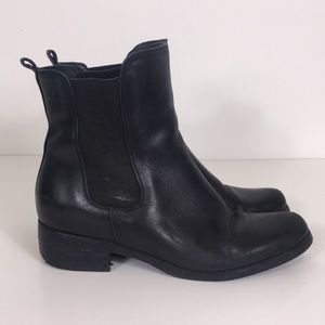 Blondo Black Leather Waterproof Boots